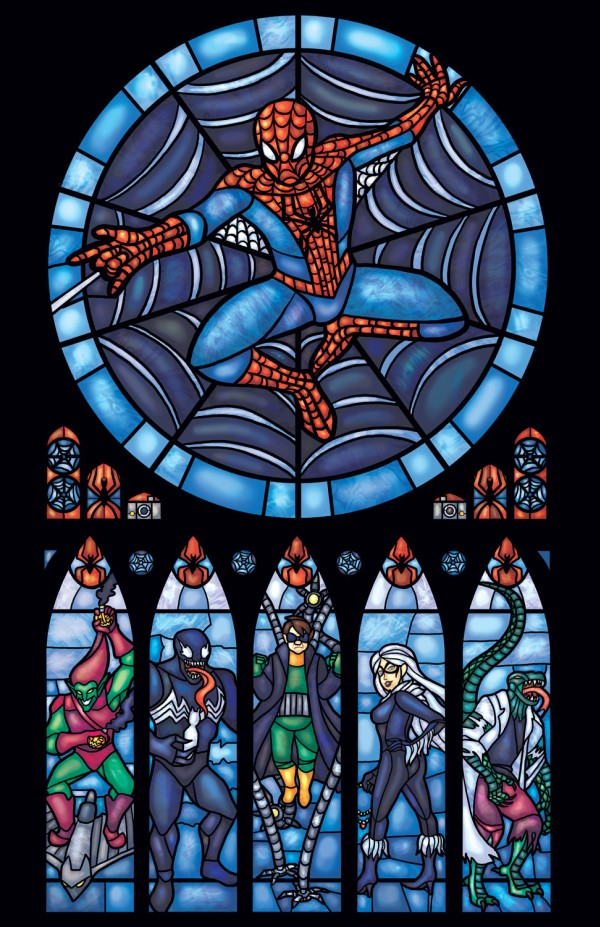 Beautiful Superhero Stained Glass Prints