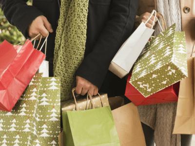 prepare christmas shopping, shopping bags