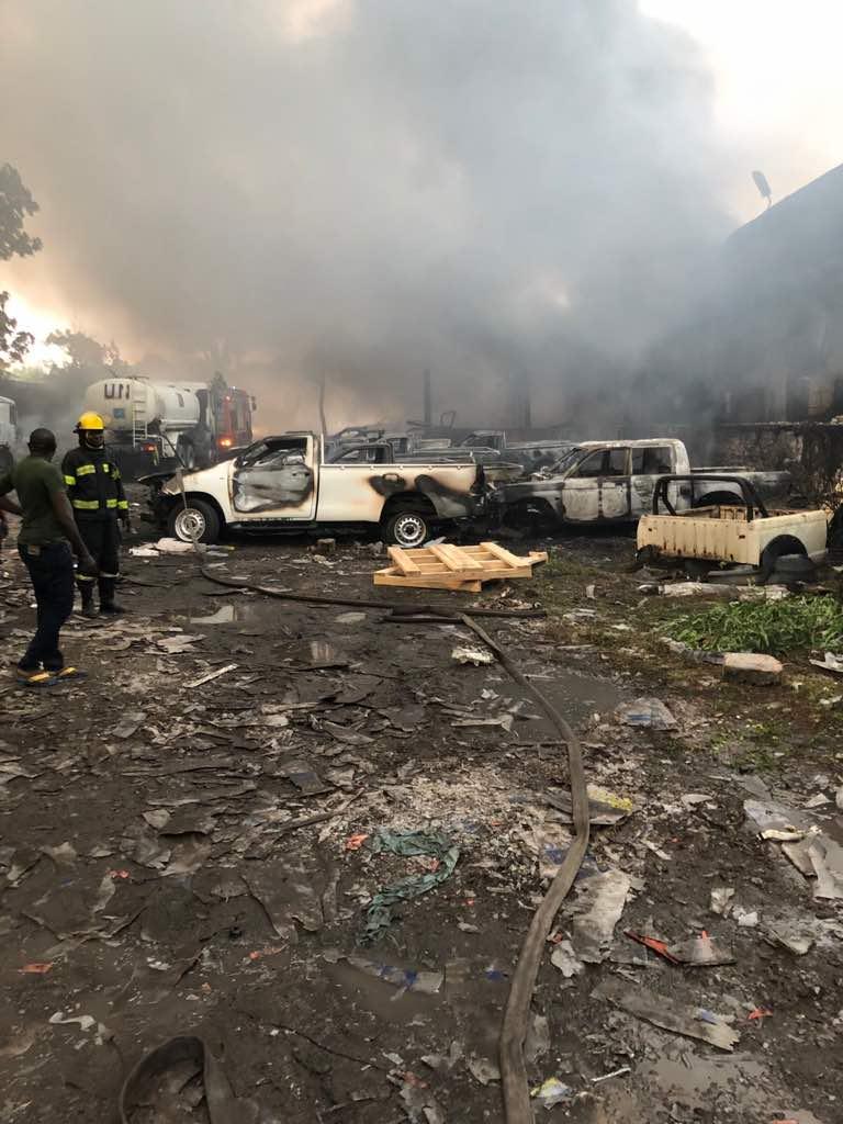 Élection-RDC : Un incendie s'est déclaré à l'entrepôt de la Commission Électorale Nationale Indépendante