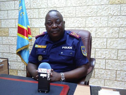 Kinshasa-RDC : Général Kasongo, commissaire provincial Police nationale congolaise (PNC) de Kinshasa