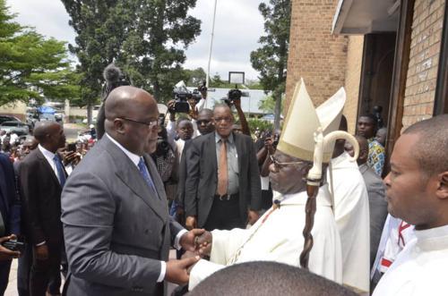 Cardinal Monsengwo : « Que le mandat du Président soit bénéfique pour le peuple de Dieu »