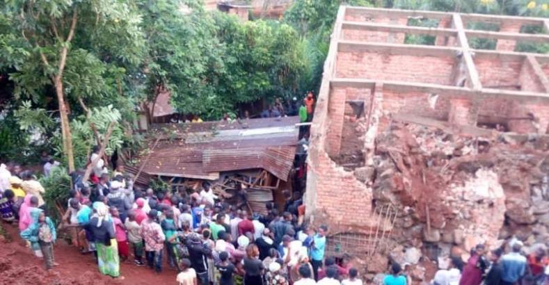 BUKAVU: 5 personnes décédées à la suite de l'écroulement d'un mur.