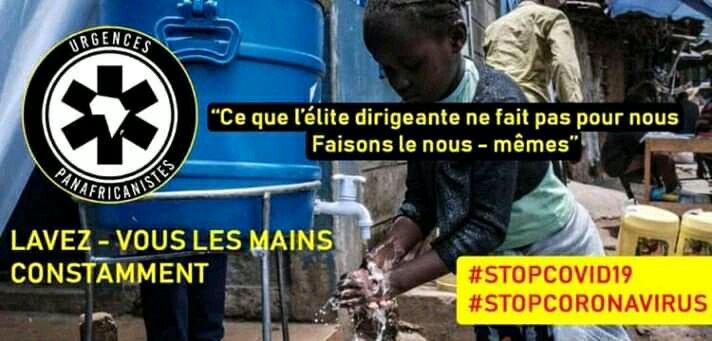RDC: «Si le peuple prend conscience de la gravité du coronavirus, c'est la clé de la lutte contre cette pandémie, C'est le sens de notre sensibilisation (Message d'URGENCES PANAFRICANISTES RDC)»