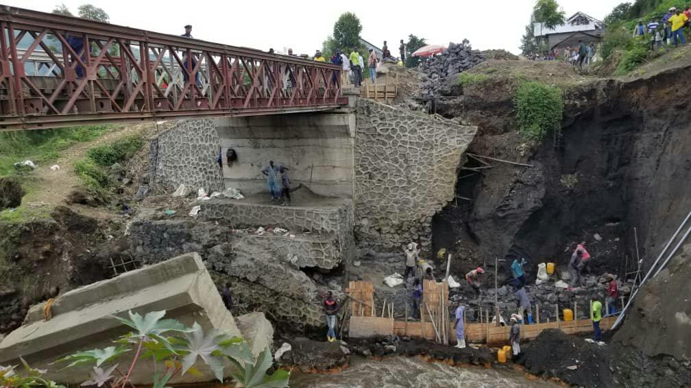 Nord-kivu-Infrastructures: la notabilité de Goma et Masisi derrière le gouvernement provincial du Nord-Kivu pour la construction d'un nouveau pont sur la rivière KIHIRA à la RN2 à Sake