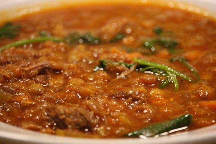 Lentil Beef Soup