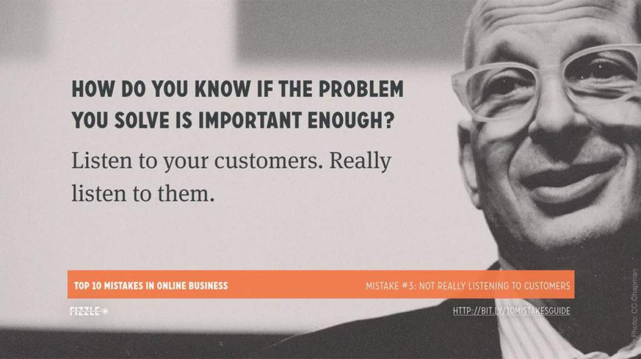 Online Business Mistake #3: Not really listening to customers
