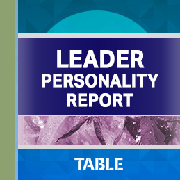 Leader Personality report cover