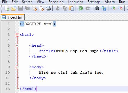 html5 hyrje