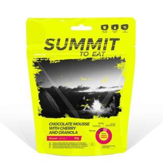 Summit To Eat Sjokolademousse med kirsebær