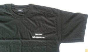 Sort t-skjorte