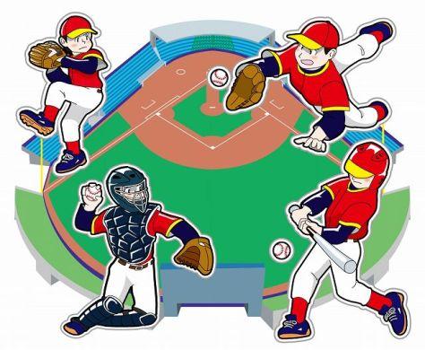 野球選手(ピッチャー、キャッチャー、野手、バッター)