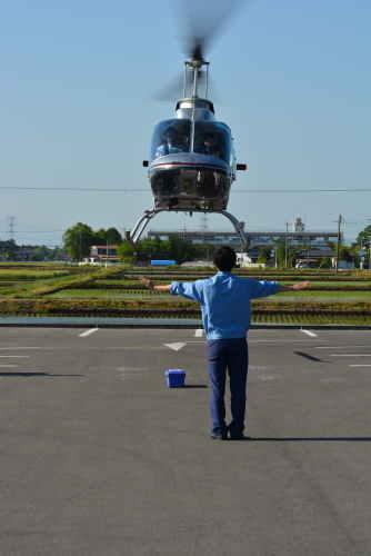 ヘリコプターのフライト体験 栃木県 安住神社HPから引用