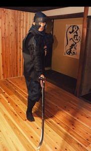 大介氏(様々な武道を基本に忍道の理念・歴史・目指すところ等を教える)