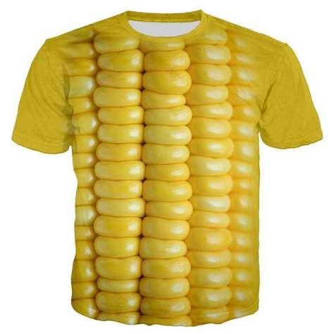 Newest T Shirt Golden Yellow Plant Corn Harajuku 3D Print Unisex Hip Hop T Shirt /Hoodie/Sweatshirt | Wish から引用
