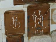 Schablonen für Initialen