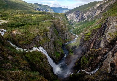 Voringfoss waterval brug geopend bij Eidfjord