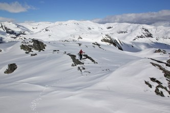 Anne approaching the summit