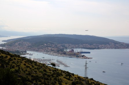 Čiovo island, seen earlier in the day