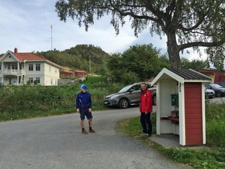 Finished! Ole Magnus and Bernhard at Korshamn