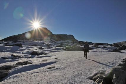 Down the east ridge