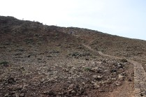 Up to the crater