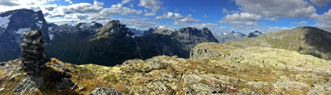 Iphone panorama from the summit