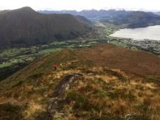 The ridge to Grøthornet