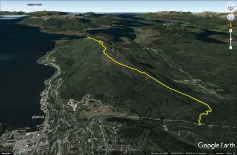 Our route to Liafjellet