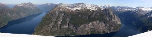 Synnylvsfjorden and Geirangerfjorden
