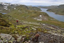 Looking back on Kvannfjellet