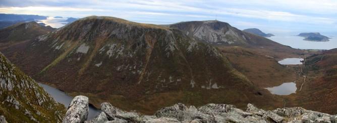 Tverrfjellet and Gamlemsveten