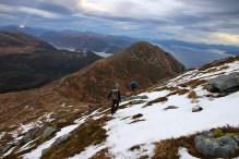 Descending from Oppstadhornet