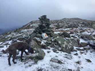 At the 518m cairn