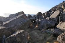 Large boulder area