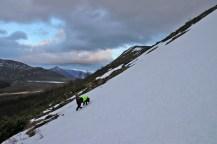 Crossing many snow fields