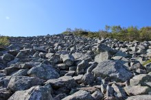 The huge boulder field