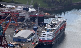 Coastal Express vessels being built at Kleven