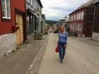 In Røros - going for dinner
