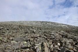 Up the boulder