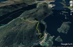 Our route to Rødlandstua