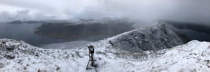 Iphone8 panorama from Gjøna (1/2)