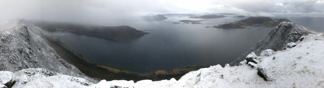 Iphone8 panorama from Gjøna (2/2)
