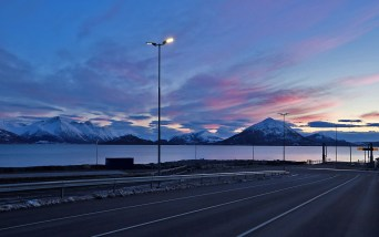 Waiting for the ferry at Sulesund