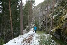 Entering snow