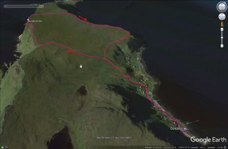 Our route on Runde