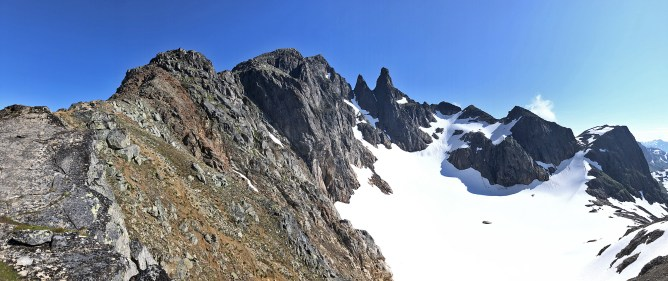 View up the ridge