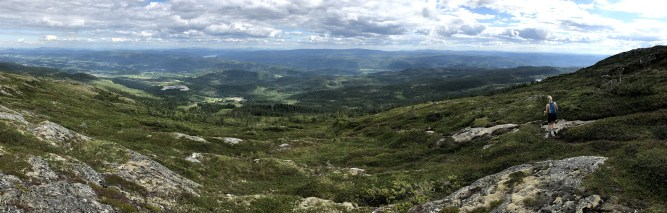 Heading down Vassfjellet