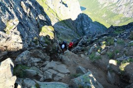 In our 3rd gully. More scrambling here