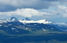 Okstindbreen glacier