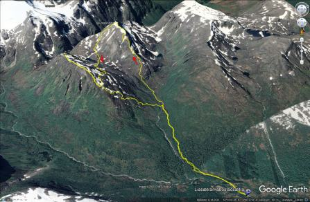 My route across Saurdalsnibba and Bolten